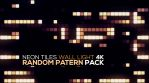 Neon Tiles Wall Light 4K - Random Patern Pack