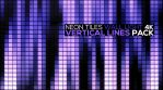 Neon Tiles Wall Light 4K - Vertical Lines Square Pack