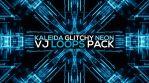 Kaleida Glitchy Neon VJ LOOPS Pack