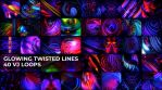 Glowing Twisted Lines