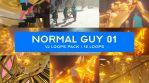 Normal Guy VJ Loops Pack 01