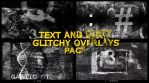 Text And Dirt Glitchy Overlays Pack
